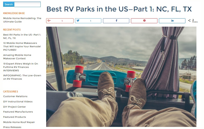 Best RV Parks in the United States